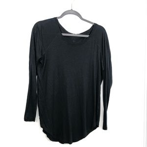 Lululemon Black Long Sleeve Lightweight Top